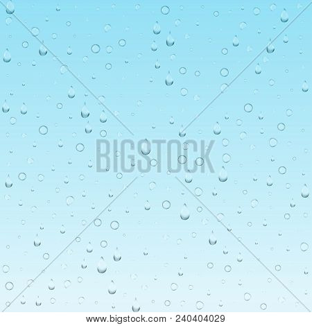 Bubbles Underwater Texture Isolated On Transparent Background. Vector Fizzy Air, Gas Or Clean Oxygen