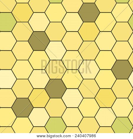 Hexagon Grid Seamless Vector Background. Stylized Polygons With Six Corners Geometric Graphic Design
