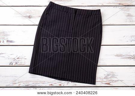 Business Style Black Skirt. New Brand Classic Skirt For Women. Female Elegance And Fashion.