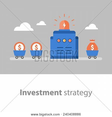 Long Term Investment, Fund Management, Fund Raising, Income Increase, Start Up Concept, Interest Rat
