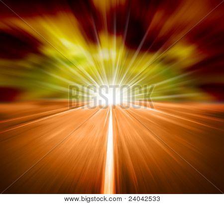 alta velocidad de belleza en ruta