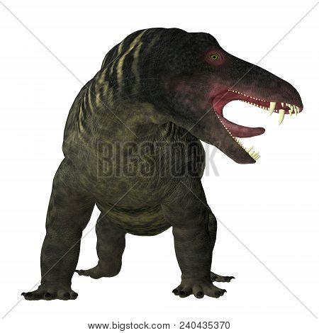 Jonkeria Dinosaur On White 3d Illustration - Jonkeria Truculenta Was An Omnivorous Therapsid Dinosau