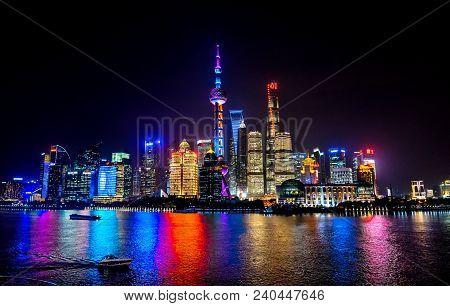 Shanghai, China - November 16, 2017 Shanghai, China - November 16, 2017looking Down Oriental Pearl T