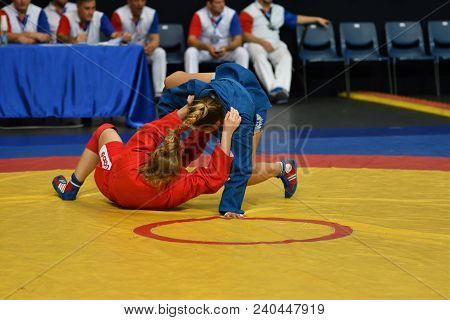 Orenburg, Russia - October 29, 2016: Girls Compete In Self-defense Without Weapons