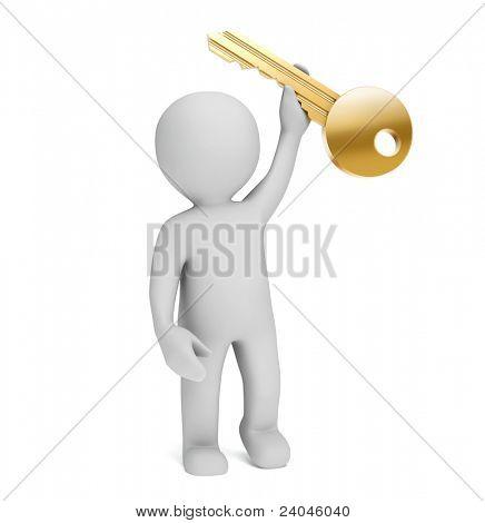 3d little person keeps key