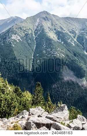 Highest Peak Of Western Tatras Mountains In Slovakia - Bystra Peak From Nizny Ostredok Peak On Otrha