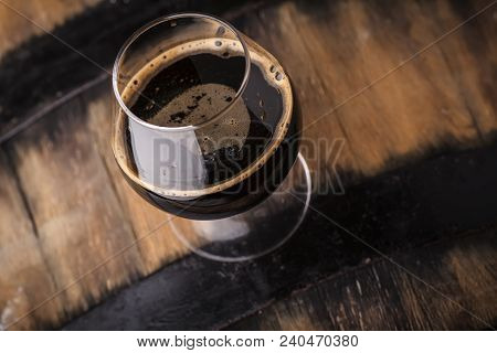 Glass Of Barrel Aged Stout