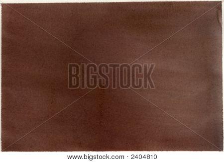 Paper, Brown Watercolor Wash