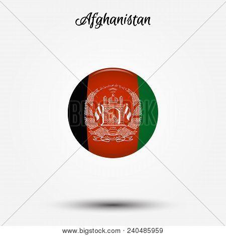 Flag Of Afghanistan Icon. Vector Illustration. World Flag