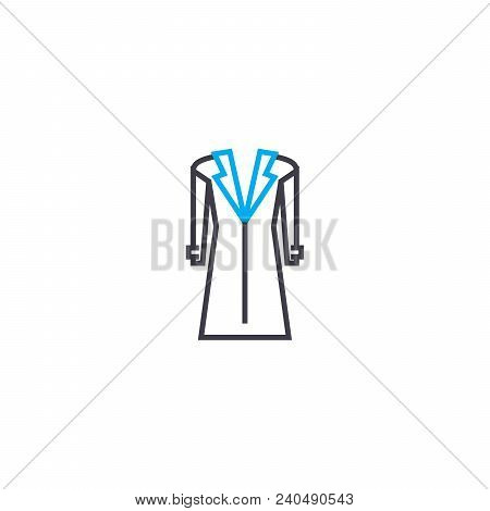 Ball Gown Vector Thin Line Stroke Icon. Ball Gown Outline Illustration, Linear Sign, Symbol Isolated