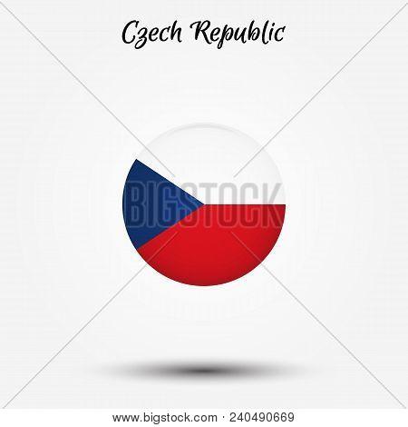 Flag Of Czech Republic Icon. Vector Illustration. World Flag