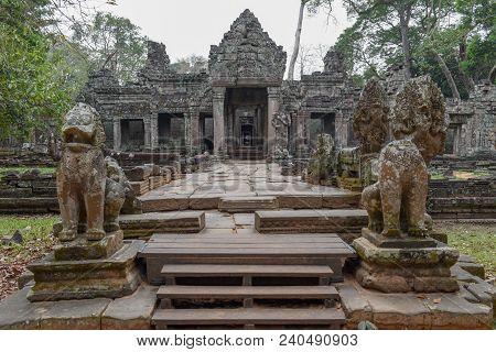 Entrance To Ancient Preah Khan Temple In Angkor, Cambodia, Cambodia