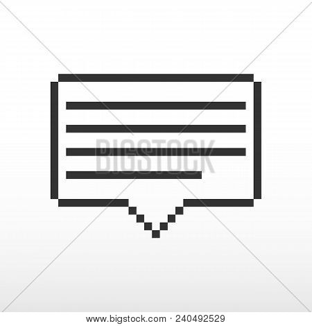 Notification Icon. New Notification Of Receipt Of The Letter. Vector Illustration.