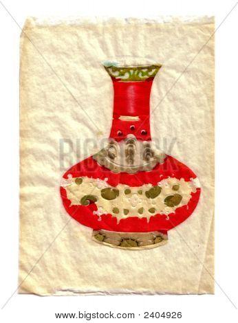 Papercut Oriental Vase 2 Vsml