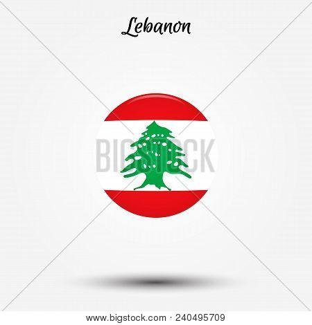 Flag Of Lebanon Icon. Vector Illustration. World Flag