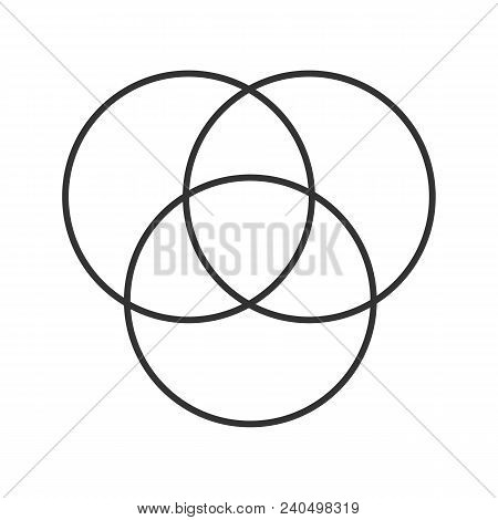 Cmyk Or Rgb Color Circles Linear Icon. Venn Diagram. Thin Line Illustration. Overlapping Circles. Co