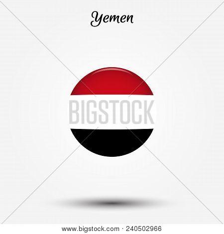 Flag Of Yemen Icon. Vector Illustration. World Flag