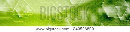 Abstract Technology Modern Industrial Web Header Banner. Vector Header Template With Bridge Landscap