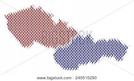 Demography Czechoslovakia Map People. Population Vector Cartography Pattern Of Czechoslovakia Map Co