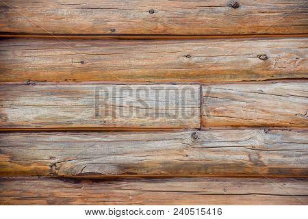 Weathered Log Cabin Siding On Log Cabin