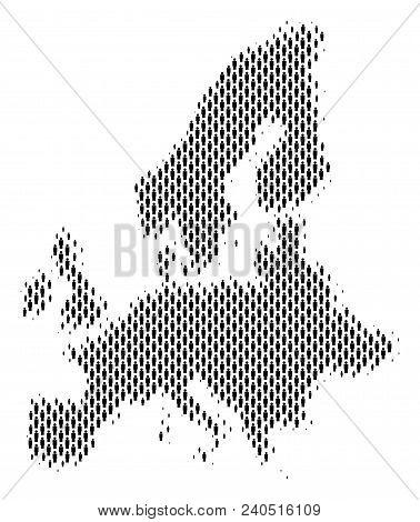 Demography European Union Map People. Population Vector Cartography Composition Of European Union Ma