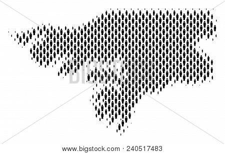Demography Guinea-bissau Map People. Population Vector Cartography Composition Of Guinea-bissau Map