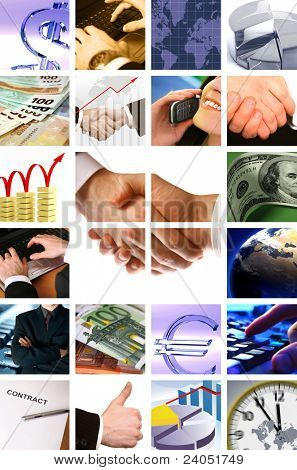 business background collage
