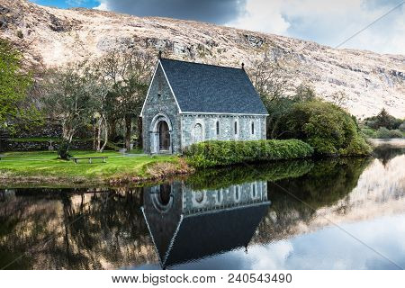 April 30th, 2018, Gougane Barra, Ireland - Saint Finbarr Oratory, A Chapel Built On An Island In Gou