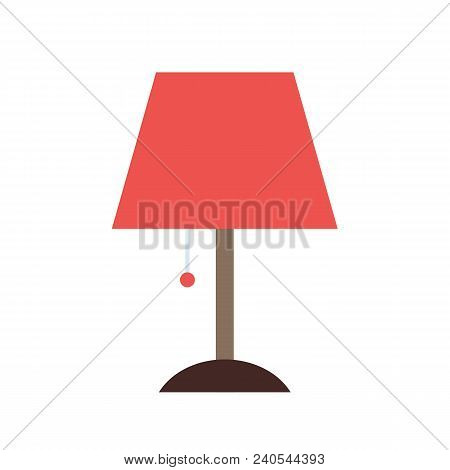Lamp Icon Flat Isolated On White Background. Vector Stock.