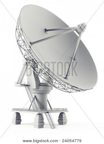 3D Sat Antena auf der weißen