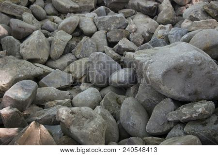 Stone Wall Texture Photo, Stone Background, Stone Floor Texture. White Stones In The Park