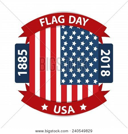 Happy Flag Day Background Template. Vector Illustration Of A Background For Happy Flag Day. Flag Day