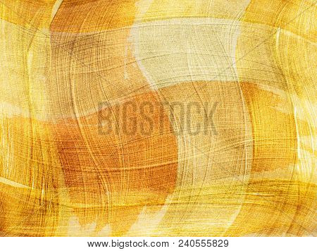 Beige Yellow Abstract Background. Background With Intersecting Brushstrokes
