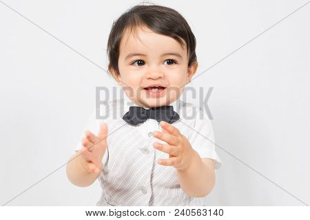 Child Boy Applaud And Acclaim Happy Whoop