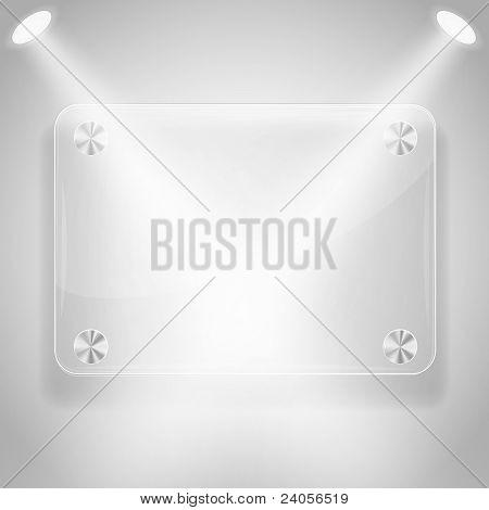 Glass Framework With Spotlights