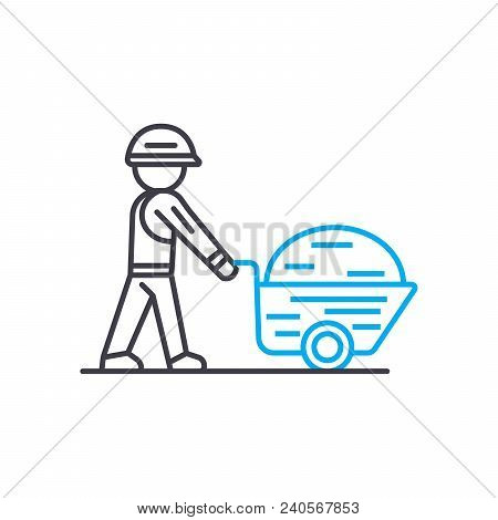 Building Materials Vector Thin Line Stroke Icon. Building Materials Outline Illustration, Linear Sig