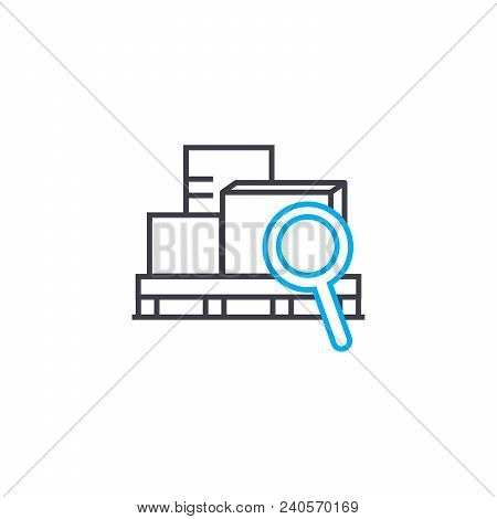 Cargo Scanning Vector Thin Line Stroke Icon. Cargo Scanning Outline Illustration, Linear Sign, Symbo
