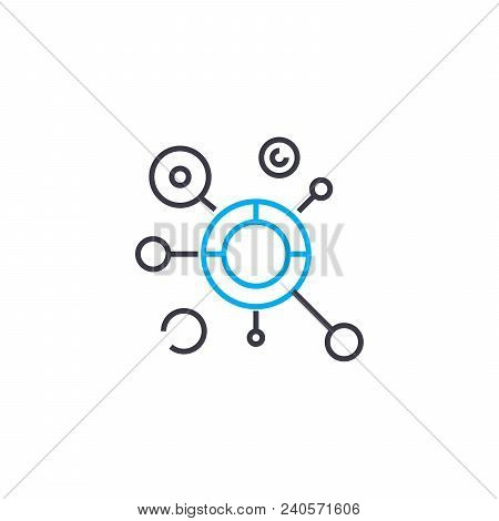 Complex Model Vector Thin Line Stroke Icon. Complex Model Outline Illustration, Linear Sign, Symbol