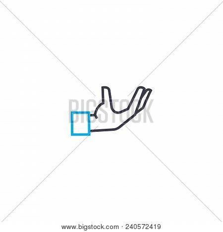 Control Over The Situation Vector Thin Line Stroke Icon. Control Over The Situation Outline Illustra