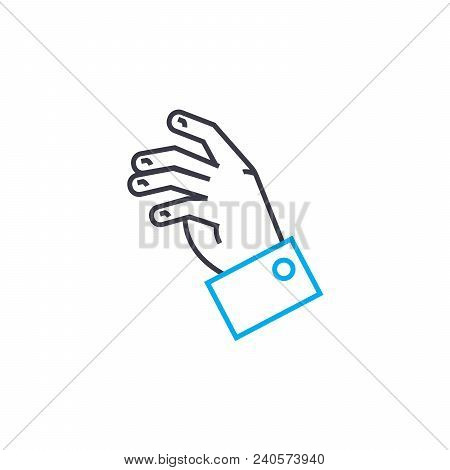 Desire To Speak Out Vector Thin Line Stroke Icon. Desire To Speak Out Outline Illustration, Linear S