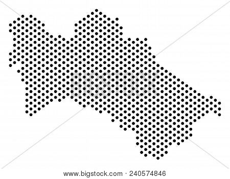 Pixel Turkmenistan Map. Vector Territorial Scheme. Cartographic Concept Of Turkmenistan Map Combined