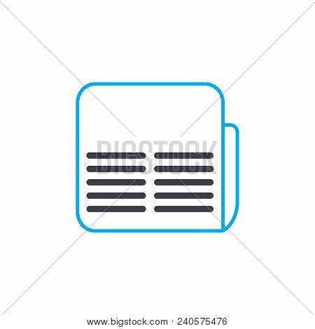 Financial Brief Vector Thin Line Stroke Icon. Financial Brief Outline Illustration, Linear Sign, Sym