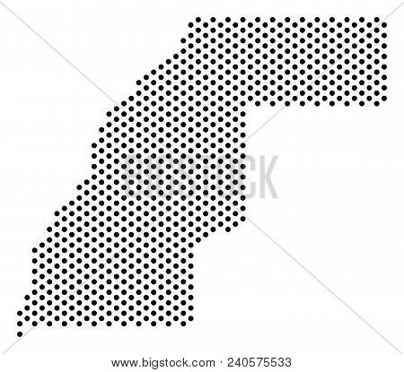 Dotted Western Sahara Map. Vector Territorial Scheme. Cartographic Pattern Of Western Sahara Map Mad