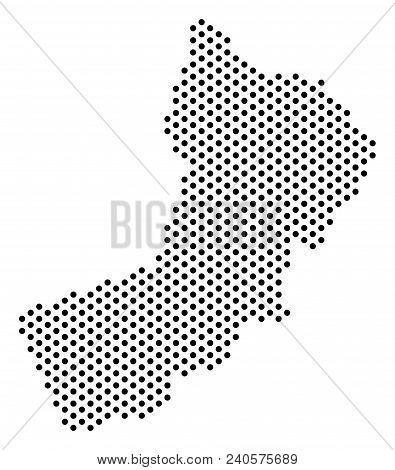 Dot Yemen Map. Vector Geographic Plan. Cartographic Concept Of Yemen Map Organized Of Sphere Dots.
