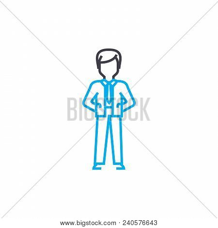 Formal Clothes Vector Thin Line Stroke Icon. Formal Clothes Outline Illustration, Linear Sign, Symbo