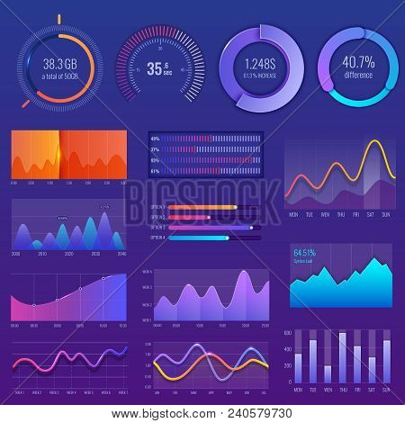 3d Chart And Graphic. Diagram With Options And Workflow Charts. Business Diagram Data Finance, Infog