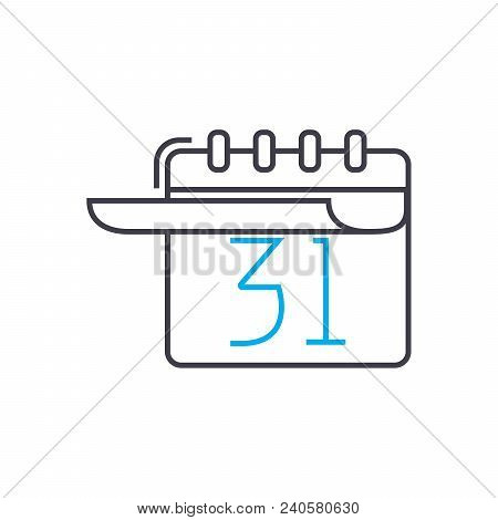 Long Term Planning Vector Thin Line Stroke Icon. Long Term Planning Outline Illustration, Linear Sig