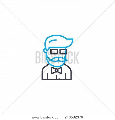 Men's Uniform Vector Thin Line Stroke Icon. Men's Uniform Outline Illustration, Linear Sign, Symbol