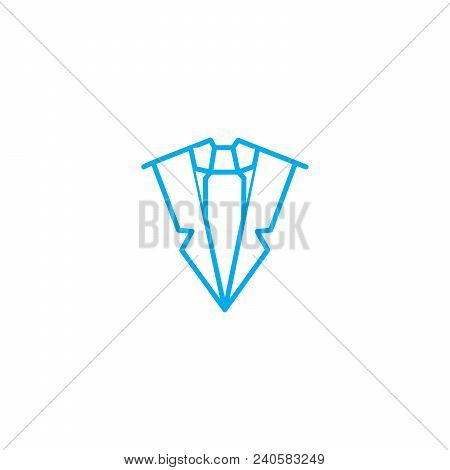Official Style Vector Thin Line Stroke Icon. Official Style Outline Illustration, Linear Sign, Symbo