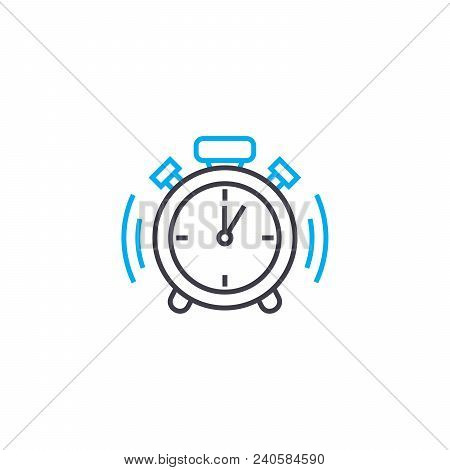 Punctuality Vector Thin Line Stroke Icon. Punctuality Outline Illustration, Linear Sign, Symbol Isol